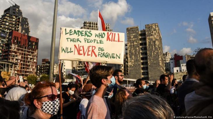 Wut im Libanon: Nach der verheerenden Explosion in Beirut hat sich der Zorn der Bevölkerung über die Regierung entladen.