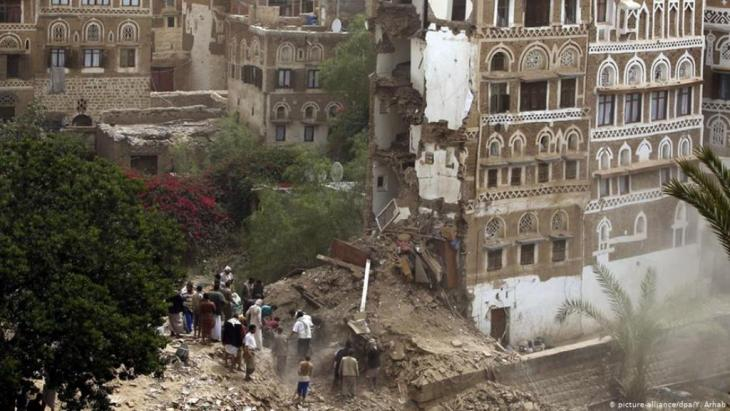 Zerstörungen in der Altstadt von Sanaa (Foto: epa)