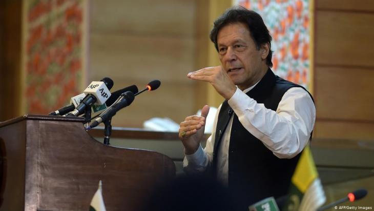 Der pakistanische Premierminister Imran Khan steht zunehmend in der Kritik