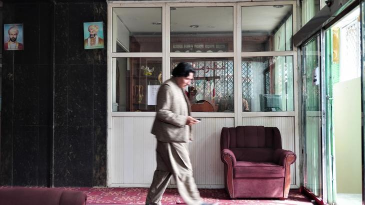 Die Lobby des Hotel Spinzar in der Innenstadt von Kabul