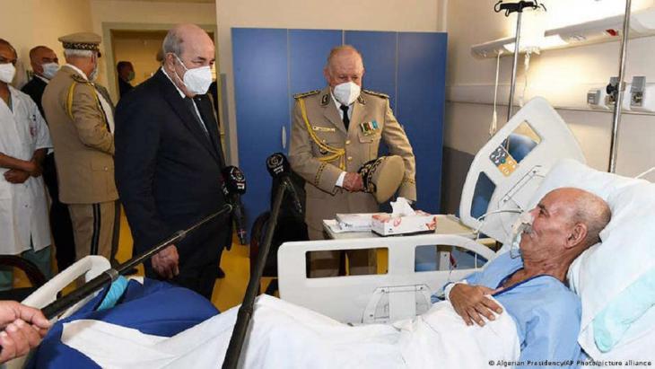 Brahim Ghali im Krankenhaus in Algier; Foto: Algerian Presidency/AP Photo/picture-alliance