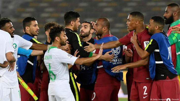 Spiel der Gruppe E beim Asian Cup 2019 zwischen Katar und Saudi-Arabien; Foto: Getty Images/AFP/K. Desouki