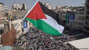 Palästinensische Flagge; Foto: DW