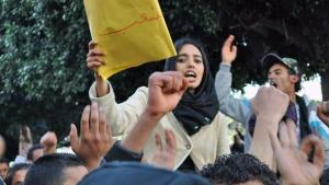 Demonstration für Frauenrechte in Tunis; Foto: DW/S. Mersch