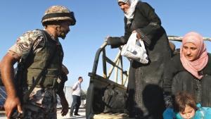 Ankunft syrischer Flüchtlinge in Jordanien, September 2012; Foto: Raad Adayleh/AP