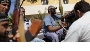 Rebellen in Tripolis; Foto: dpa/picture-alliance