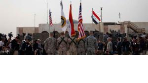 Zeremonie in Bagdad zum Ende des US-Militäreinsatzes im Irak; Foto: AP