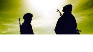 Kämpfer der Nordallianz in Afghanistan im Jahr 2001; Foto: AP