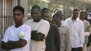 Afrikanische Migranten im 'Short Stay Immigrant Center' der spansichen Enklave Mellila; Foto: Getty Images