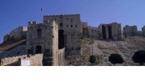Ansicht der Zitadelle in Aleppo; Foto: Claudia Mende