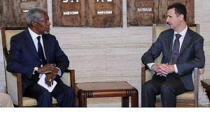 Kofi Annan bei Baschar al-Assad; Foto: dpa