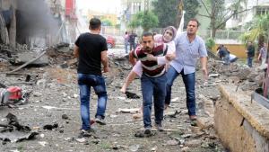Verletze am Anschlagsort in Reyhanli; Foto: dpa/picture-alliance