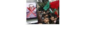 Demonstration gegen Ben Ali in Tunesien; Foto: dpa