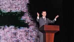 Assads Rede an die Nation im Opera House in Damaskus; Foto: REUTERS/Sana