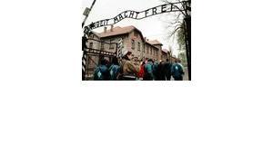 Israelische Jugendliche in Auschwitz, Foto: AP