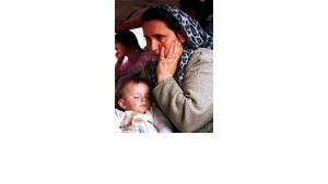 Bosnische Flüchtlingsfrau, Bild: ap