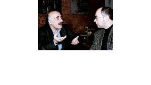 A. Beydoun und M. Kleeberg im Gespräch. Foto: L. Bender