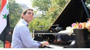 Konzert von Malek Jandali zur Unterstützung der syrischen Revolution vor dem Weißen Haus in Washington; Foto: Malek Jandali