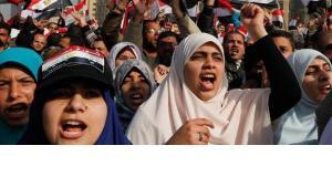 Demonstration zum 1. Jahrestag der Revolution auf dem Tahrir-Platz in Kairo; Foto: Reuters