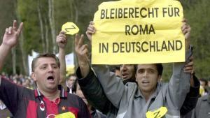 Solidaritätsdemonstration für ein Bleiberecht der Roma in Deutschland; Foto: picture-alliance/dpa