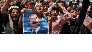 Demonstration gegen Ali Abdallah Saleh; Foto: AP