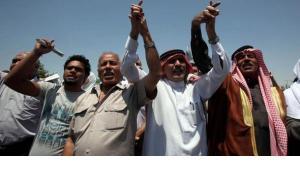 Demonstration gegen die Regierung in Amman; Foto: dpa/picture-alliance