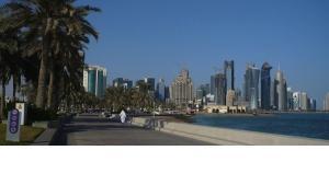 Skyline von Doha; Foto: DW