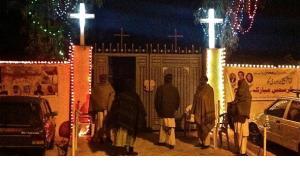 Eingang zur protestantischen Kirche in der France Colony, Islamabad; Foto: Nusrat Sheikh