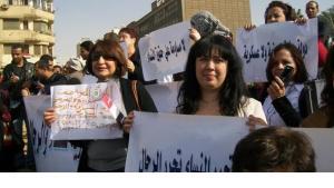 Demonstration von Frauenrechtsaktivistinnen in Kairo; Foto: Hossam Ali/AP/dapd