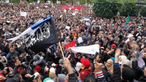 Anhänger der islamistischen Ennahda in Tunis; Foto: Reuters