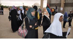 Junge Studentinnen an der Universität Bengasi (Libyen); Foto: DW