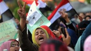 Demonstration gegen den Obersten Militärrat in Kairo; Foto: dpa