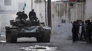 Kämpfer der Freien Syrischen Armee bei Damaskus; Foto: Reuters