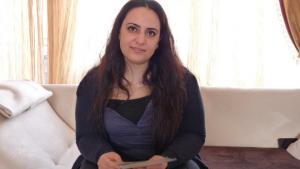 Gamze Kubasik, Tochter des NSU-Mordopfers Mehmet Kubasik, Foto: A. Grunau/DW