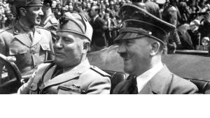 Hitler and Mussolini im Jahr 1940; Foto Quelle: Wikipedia