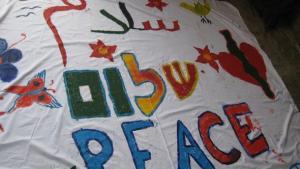 Friedensaktion von den Kämpfern für den Frieden; Foto: http://cfpeace.org
