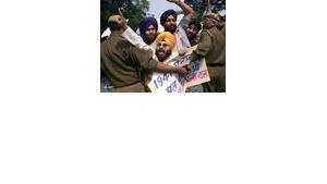 Antiislamische Demonstrationen in Neu Delhi, Foto: AP