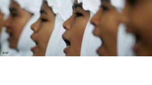 Mädchen in einer Schule auf Aceh; Foto: AP
