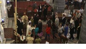 Gottesdienst in der griechisch-katholischen Kirche Al-Niyah in Damaskus; Foto: AFP/Getty Images