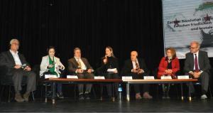 Podiumsdiskussion in Berlin am 23.3. zum Thema: Ein Jahr Revolution in Syrien. Zwischen friedlichem Kampf und brutaler Unterdrückung; Foto: Bettina Marx/DW