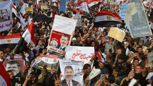 Großdemonstration von Anhängern Mursis in Kairo; Foto: AFP/Getty Images