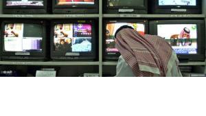 Al Dschasira-Redaktion in Doha (Katar); Foto: AP Photo/Kamran Jebreili