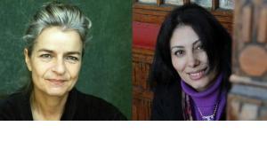Charlotte Wiedemann (l.) und Mansura Eseddin; Foto: © C. Wiedemann/I. Ohlbaum