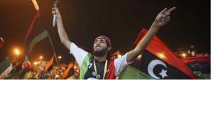 Jubelfeier in Tripolis; Foto: AP