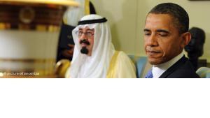 US-Präsident Obama und der saudische König Abdullah; Foto: picture alliance/dpa
