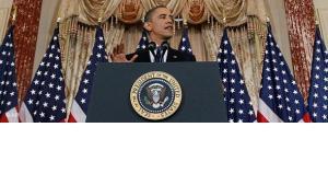 US-Präsident Obama bei einer Rede; Foto: AP