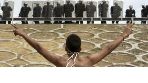 Proteste in Bahrain; Foto: AP/dapd