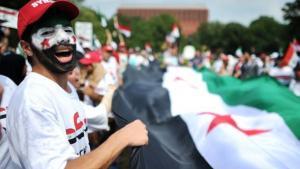 Protest gegen Assad; Foto: JEWEL SAMAD/AFP/Getty Images