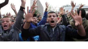 Protest gegen Algeriens Präsident Abdelaziz Bouteflika am 12. Februar 2011 in Algier; Foto: dpa