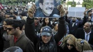 Proteste nach der Ermordung Belaids in Tunis; Foto: AFP/Getty Images